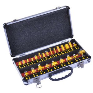 1 4 inch Shank Carbide tipped All purpose Professional Router Bit Set 24pcs