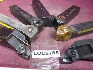 Miscellaneous Lot Of 7 Indexable 1 1 4 Shank Turning Lathe Tool Loc2785