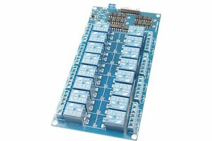 Smakn dc 5v 16 channel Relay Module Dashboard Optocoupler Protection With Lm2596
