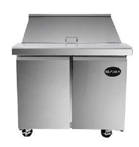 Saba Sps 36 15m Commercial Mega Top Solid Door Sandwich Salad Prep Table