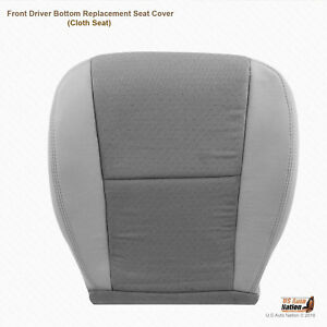 2009 2010 Chevy Silverado 1500 Front Driver Bottom Lt Titanium Cloth Seat Cover