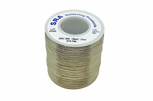 Sra Soldering Products Wbncsac15 Lead Free No clean Flux Core Silver Solder Sac