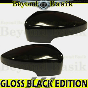2013 2014 2015 2016 Ford Escape Gloss Black Mirror Covers With Turn Signal Hole