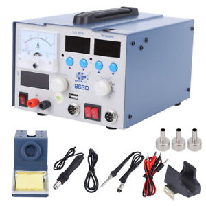 3in1 863d Soldering Rework Station Smd Solder Iron Hot Air Gun Dc Power Supply