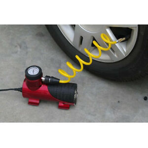 12v Car Electric Mini Compressor Pump Bike Tyre Air Inflator 150psi Red