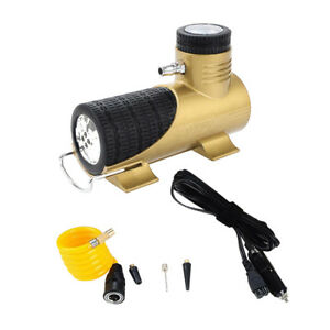 Heavy Duty 12v Air Compressor High Speed For Car Tyre Inflator Pump Yellow