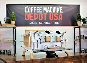 Sanremo White Wood Cafe Racer 2 Group Commercial Espresso Machine