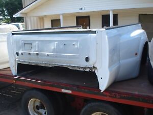 99 07 Ford F 350 Super Duty Dually Drw Truck Bed Box 8 Foot Long White Oem
