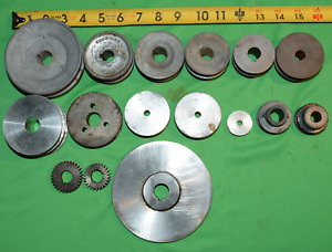 Lot Of 16 Good Clean Useable Drive Pulleys And Gears Lathe Steampunk Browning