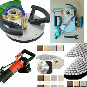 Wet Polisher Router Bit Machine 40 Polishing Pad Granite Marble Concrete Stone
