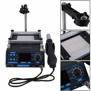 New Newest 3 In 1 Soldering Iron Station Hot Air And Preheating Station Usa Ht