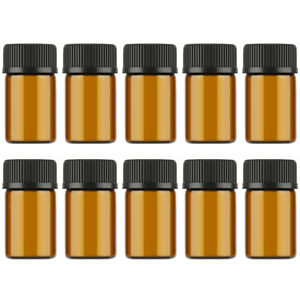 100pcs Liquid Sampling Sample Glass Bottles Vials Screwcap 3ml 5ml 10ml