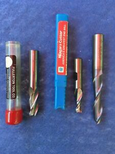 Lot Of 3 End Mills machinist Tools toolmaker 7 16 5 16 13 32 Made In Usa