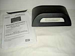 New Hubbell Dual Lite Outdoor Emergency Pgr Led Sconce Black Die cast Light