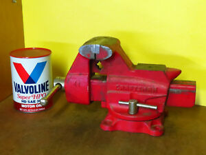 Vintage 4 Craftsman Bench Vise With Pipe Jaws