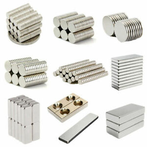 Us 5 100pcs Strong Round Block Cylinder Holes Disc Magnets Rare Earth Ndfeb N35