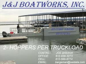25 x12 x6 25cu Yrd Hopper Barges Dredging Excavating Barge 2 Per Truck