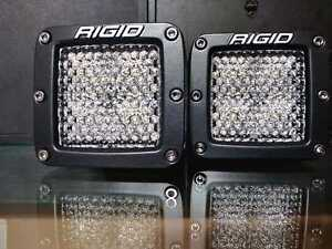 Rigid Industries 202513 D Series Pro Led Lights Pair Of Dually Diffused Lens