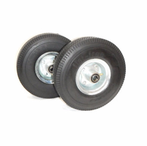 2 Hand Truck Tires 3 4 Id 10 Flat Free Wheel For Cart never Goes Flat