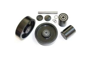 Multiton Tm 55 Pallet Jack Wheel Kit complete includes All Parts Shown