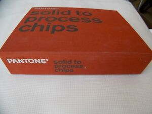 Printer Pms Color Specifier Chart Pantone Solid To Process Chips Guide Coated