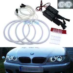 Ccfl Angel Eyes Halo Rings Drl 7000k White For Bmw E46 330ci 325ci Facelift