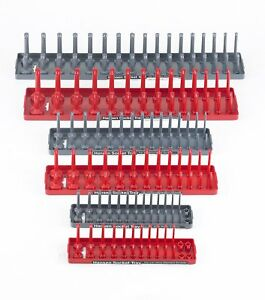 Tool Box Socket Rack Tray Rail 6 Piece Set Toolbox Organizer Storage Holder