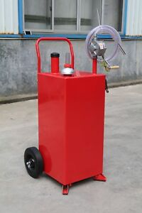 Gallon Gas Fuel Diesel Caddy Transfer Portable Jerry Dispense Tank With Pump
