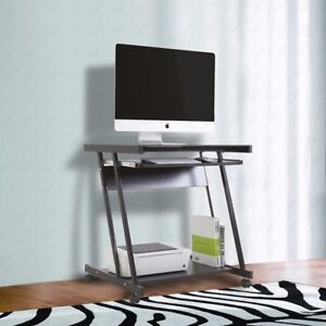 Kuppet Pc Computer Desk Laptop Workstation Furniture W 4 Wheels Roll Home Office
