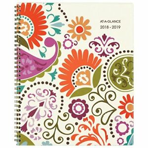 At a glance Academic Weekly Monthly Planner July 2018 June garden Party