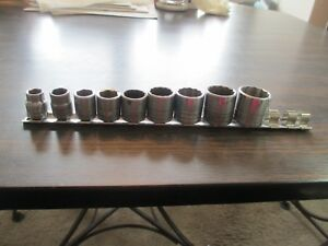 S k Tools 9 Piece 3 8 Drive Sae 3 8 To 7 8 Shallow Socket Set