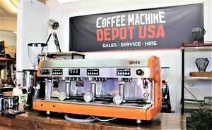 Wega Polaris Orange 3 Group Commercial Espresso Machine