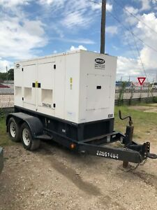2006 Caterpillar Xq80 Portable Diesel Generator Load Bank Tested