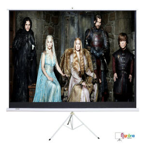 Mecor 100 16 9 Projector Projection Screen Movie Tripod Portable Pull up Matte