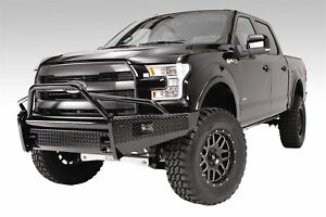 Fab Fours Black Steel Front Ranch Bumper For 2009 2014 Ford F 150 ff09 k1962 1
