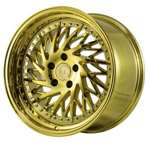Aodhan Ds03 18x10 5 22 5x114 3 Gold Vacuum Fits Ford Mustang 350z