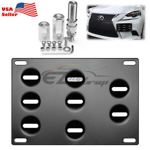 Bumper License Plate Bracket Tow Hook Mount Holder For Honda S2000 Fit Acura Tl