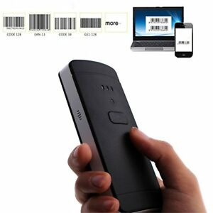 Kkmo 2 in 1 Bluetooth Wired Barcode Scanner Usb 1d Mini Portable Handheld C