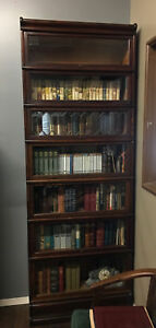 Antique Vintage Globe Wernicke 7 Tiered Barrister Book Case With Top And Bottom