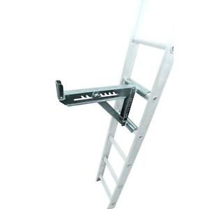 Adjustable Angle 2 rung 16 75 in Weather Resistant Ladder Jacks Ladder Accessory