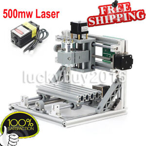 Cnc 1610 Mini Mill Engraving Machine Router Kit Usb 500mw Laser Engraver
