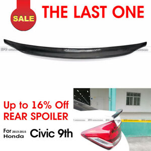 For Honda Civic 9th Generation 2013 2015 Carbon Rear Ducktail Spoiler Trunk Wing