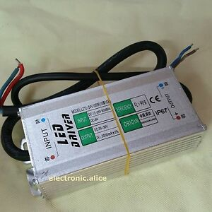 1x Ac dc 12v 24v 3000ma 100w Transformer Power Supply Led Driver Ip67 Waterproof