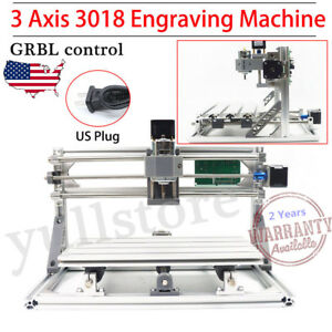 Grbl Engraving Milling Machine Engraver Cnc Router Pcb 3 Axis 3018 Desktop