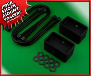For 1983 2012 Ford Ranger Rear Leveling Lift Kit 3 Blocks U Bolts 2wd 4wd