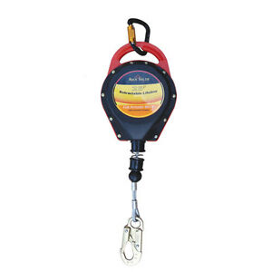 New Rock Solid Fall Protection Cable Self retracting Lifeline 25ft Sl