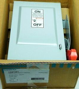 New Siemens Hnf361 30a Heavy Duty Safety Switch Disconnect 600vac 250vdc 3p fh