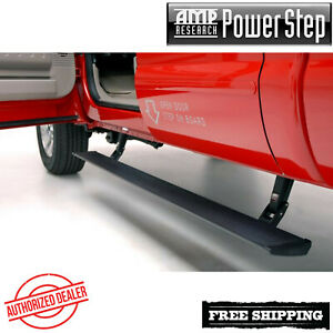 Amp Power Retractable Step Bars Lighted 2007 2013 Chevy Silverado 1500 Ec Cc