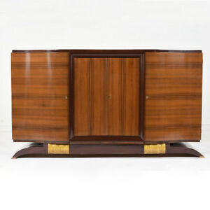 Stylish French Art Deco Buffet Excellent Cond Solid Mahogany Wood All Original