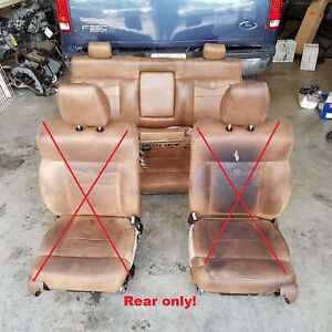 Ford F150 King Ranch Brown Leather Rear Backseat Oem
